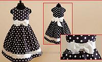 Детское платье в горох на рост от 90см до 122см