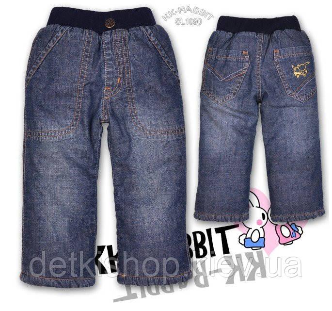 Детские джинсы на флисе KK-RABBIT (модель 3)