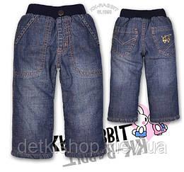 Дитячі джинси на флісі KK-RABBIT (модель 3)