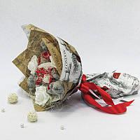Букет из игрушек Мишки Тэдди с конфетами Raffaello