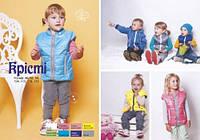 Модная детская жилетка Кристи 116, голубой