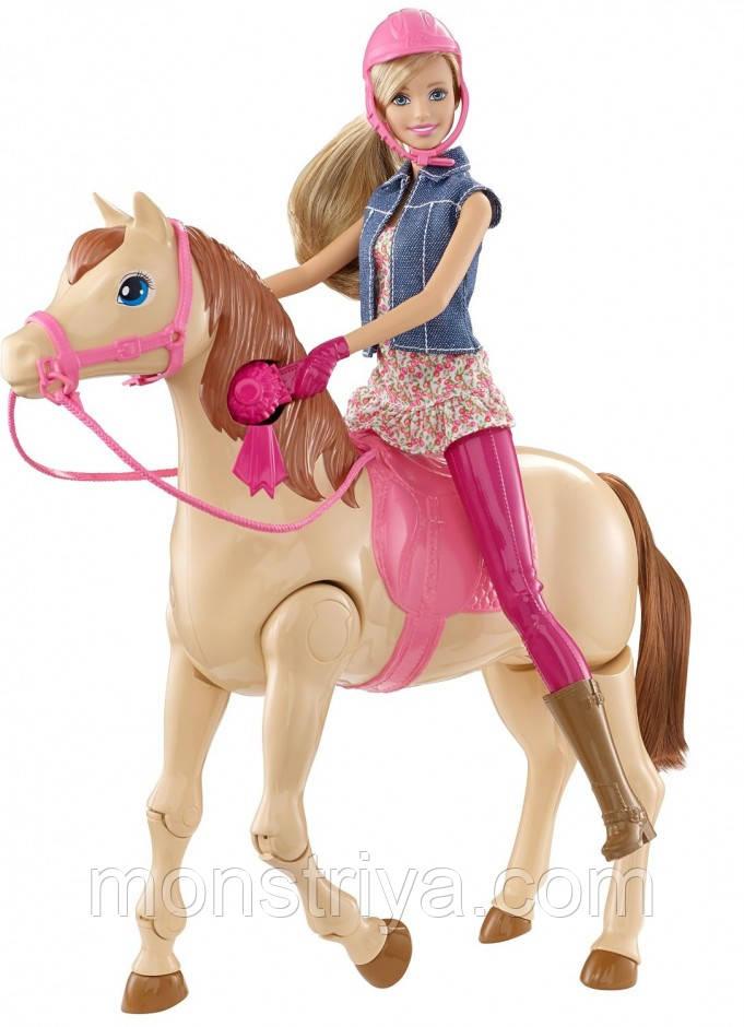 Кукла Барби и лошадь,езда верхом Barbie