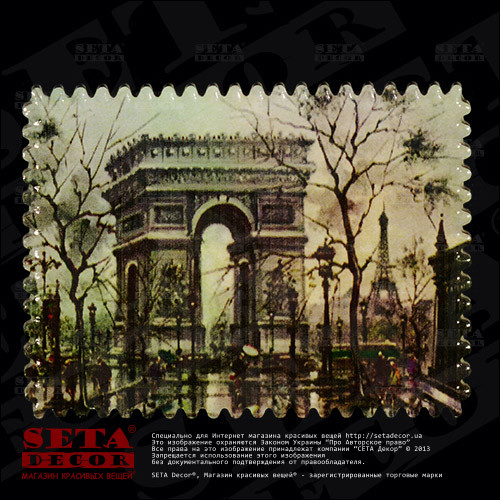 """Магнит """"Триумфальная арка"""" из серии """"Франция"""", керамика - Компания """"Seta Decor"""" в Киеве"""