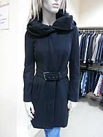 Пальто черное с капюшоном Zara