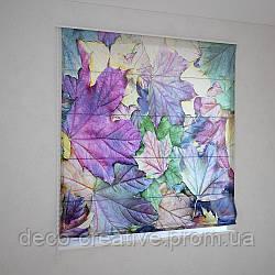 Римские фотошторы цветная листва