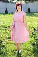 Платье большого размера с юбкой клеш р.44-58