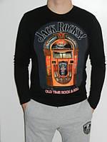 Джемпер мужской без капюшона черный  Desquartu размер L, XL, XXL Турция
