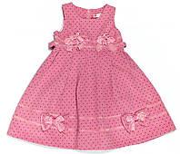 Платье для девочки 1029 Розовое В Горошек