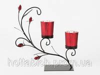 Подсвечник декоративный на 2 свечи код 06405