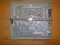 Дверь чугунная большая (25-28)(33-36)