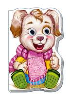 Книга-картонка Дружные зверята: Щенок  А393004Р Ранок Украина