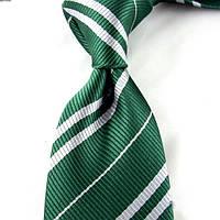 Галстук Слизерин из Гарри Поттера, длинный галстук по Гарри Поттеру, для взрослых и детей