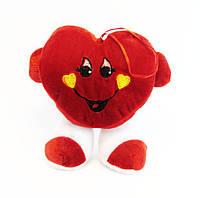 Мягкое Сердечко Валентинка с ножками 12,0 см.* 15,0 см.