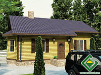 Строительство дома из сип панелей 79,26 м.кв., «ФИНА»