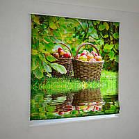 Римские фотошторы наливные яблоки в корзине