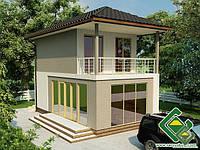 Строительство дома из сип панелей 80,36 м.кв., «ЛОТОС»