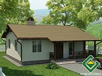Строительство дома из сип панелей 81,44 м.кв., «МИНИ ЯСОН»