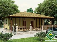 Строительство дома из сип панелей 82,24 м.кв., «РОЗАЛИ»
