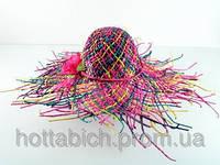 """Шляпа разноцветная """"Амазонка"""""""