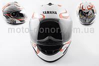 "Шлем-интеграл   ""YAMAHA""   (mod:HAWK) (size:L, белый) Ш15"