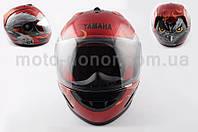 """Шлем-интеграл   """"YAMAHA""""   (mod:HAWK) (size:L, красный) Ш1"""