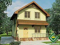Строительство дома из сип панелей 83,82 м.кв., «ЯНИНА 2»