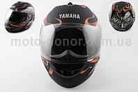 """Шлем-интеграл   """"YAMAHA""""   (mod:HAWK) (size:L, черный матовый)"""