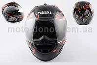 """Шлем-интеграл   """"YAMAHA""""   (mod:HAWK) (size:L, черный) Ш5"""