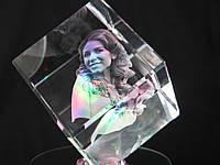 Кристалл-K4S ( 6x6x6 см )  2D и 3D с Вашим фото