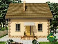 Строительство дома из сип панелей 87,00 м.кв., «ГЕКТОР 2»
