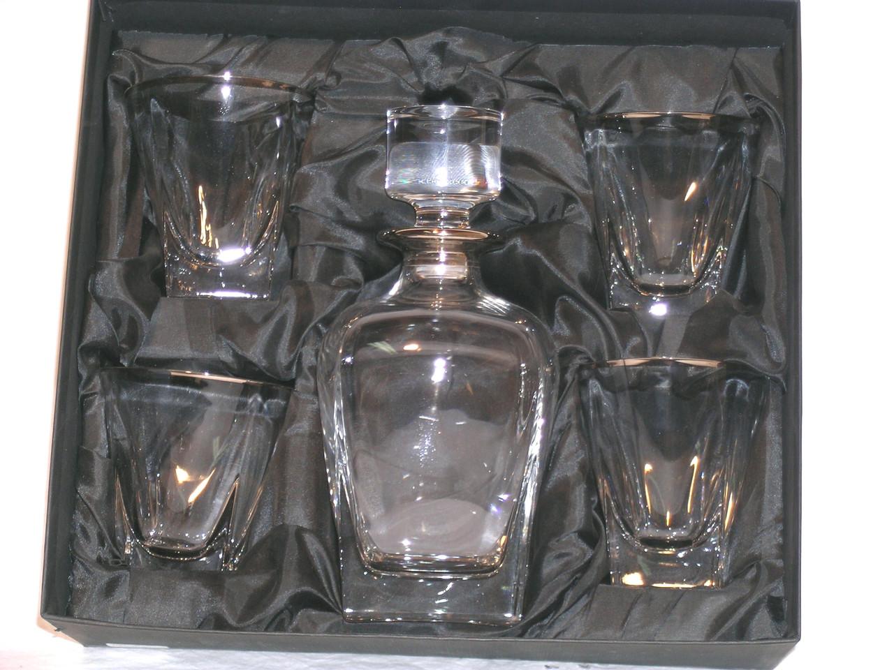 Набор для виски Fusion, декорированный платиной