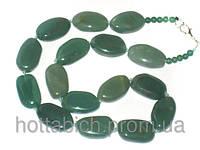 Бусы из нефрита зеленые