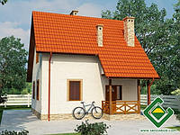 Строительство дома из сип панелей 90,86 м.кв., «МАРЕНГО»