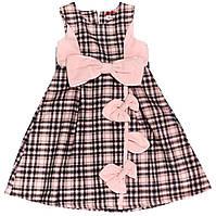 Платье для девочки 1005 Розовое В клетку