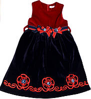 Платье для девочки 1037 велюровое