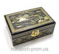 Расписная шкатулка для бижутерии Золото