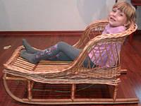 Санки плетенные из натуральной лозы для малышей.Ручная работа!