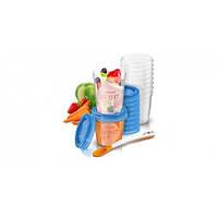 AVENT Контейнеры для хранения продуктов, 10 шт х 240 мл, 10 x 180 мл, 20 крышек, 1 ложка, CF721/20