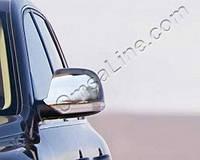Накладки на зеркала на Фольцваген Тоурег с 03-08 (нерж) OMSALINE.