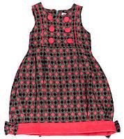 Платье для девочки 1017 Розовое В клетку