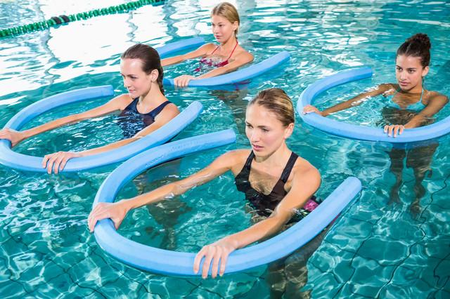 Обучение на инструктора по аквааэробике с водным оборудованием на курсах Олимпия