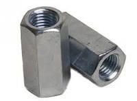 Гайка-удлинитель шестигранная DIN 6334 размер М8х24 сталь/цинк