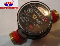 """Счетчик КВ-2,5 ГВ Ду-20 (ВН, t=40) 3/4""""с КМЧ горячей воды бытовой одноструйный крыльчатый"""