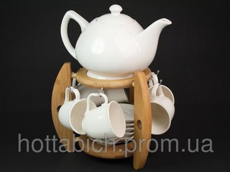 Сервиз для чая Белый - Сувениры и бижутерия в магазине подарков Поле Чудес в Киеве