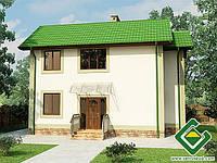 Строительство дома из сип панелей 91,89 м.кв., «МЕРКУРИЙ»