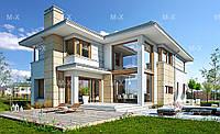 MX84. Современный двухэтажный дом с террасой