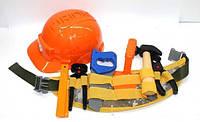 Набор пояс строителя в каске с инструментами, фото 1