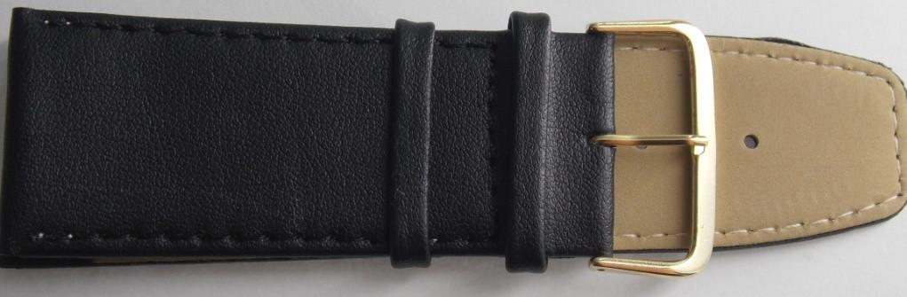 Ремешок кожаный LUX (Польша) 30 мм, черный