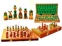 Шахматы сувенирные из дерева Матрешки Intarsia