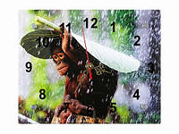 Часы подарочные Обезьянка под листом Дождик